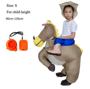 Inflatable Halloween Costume Adult Kids Fan TRex Gorilla Sumo Cow Horse Cowboy Unicorn Dinosaur Inflatable Costume