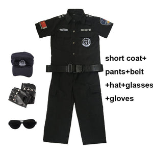 Kids Cosplay Costumes Policeman Swat Special Forces Clothing Set Toddler Boys Military Uniform Army Suit Tactical Clothes
