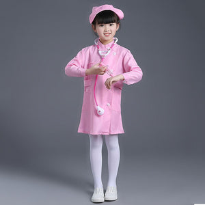 Kids Cosplay Doctor Costumes Year Halloween Kid Fancy Nurse Uniform Medical Roleplay Boys Performance