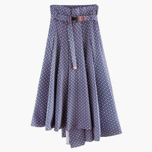 2020 Spring Suit Collar Double Pocket Belt Coat High Pleated Skirt Women Korea Fashion Loose Skirt Set PD720