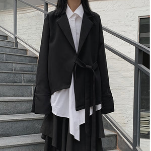 2020 Spring Summer Arrivals Turn-down Collar Solid Color Shirt Ankle-length Skirt Women Streetwear Set AW20400