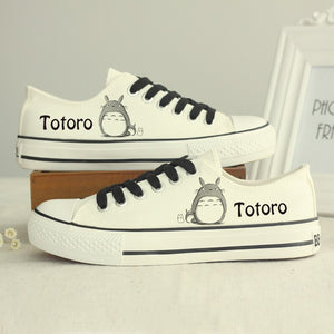My Neighbor Totoro Cosplay Shoes Unisex Totoro Cartoon Canvas Shoes Japanese Anime Print Shoe 010901