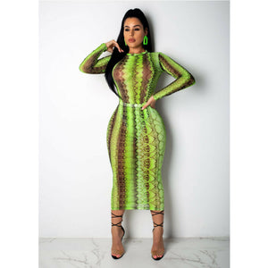 Arrivals Women Snakeskin Mesh Romper Bandage Leotard Skirt Set Casual Stylish Party Club Outfits Ping