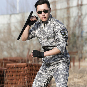 Outdoors Army Military Uniform Tactics Camouflage Men Clothes Special Forces Combat Shirt Soldier Training Militar Clothing Set
