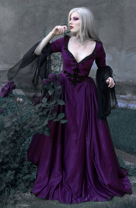 Women Medieval Dress Blue Vintage Gothic Dresses Floor Length Cosplay Costume Retro Renaissance Gown Plus 2Xl