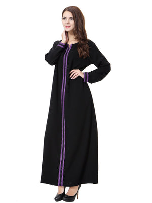 Plus SizeXxxl Black Abaya Muslim Dress Cardigan Robes Arab Kaftan Abaya Islamic Clothing Adult Dress