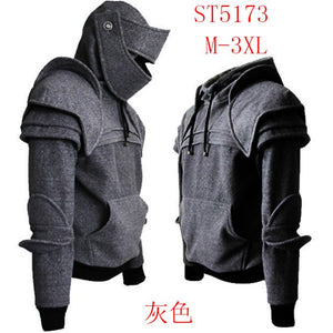 Pulling Rope Mask Knight Hoodies Vantage Medieval Costume Warm Pullover Casual Long Sleeve Hoodies