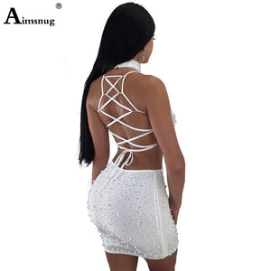 Sexy Two Pieces Set Outfits Women Clothing Spaghetti Strap Crop Tops Bodycon Skirt Women's Sets Summer Party Clubwear