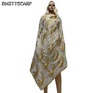 Soft Cotton Scarfs Spring Embroidered Women Scarf With Lots Rhinestones Big Headscarf Shawls Wraps Bm719