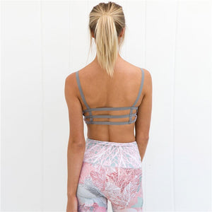 Sport Suit Print Fitness Suit Leggings Breathable Yoga Set Sexy Sporty Woman Workout Sportswear Tracksuit Gym Clothing