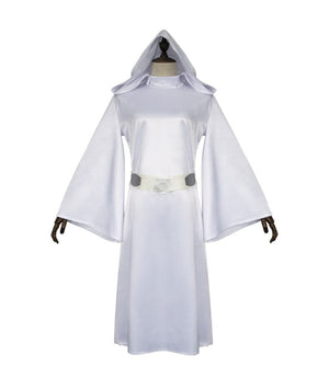Star Wars Princess Leia Cosplay Costume Leia White Dress Halloween Costume Evening Party Dresses Carnival With Belt