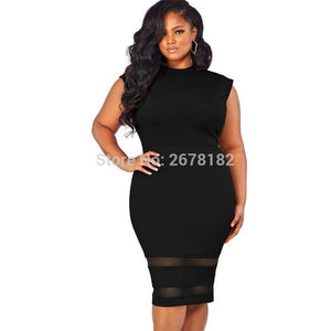 Summer Europe Fashion Women Dress Streetwear Casual Sleeveless ONeck Black White Dress Plus Size KneeLength Dress