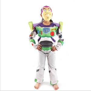 Toy Story Buzz Lightyear Costume Halloween Costume Party Cosplay Costume Carnival Dress Kids With Wing Mask