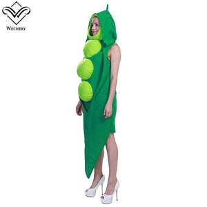 Wechery Funny Costume Unisex Beans Cosplay Costume One Piece Halloween Clothing