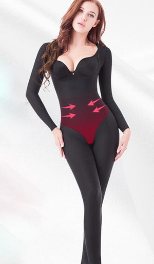 Reductoras Shapers Women Full Body Long Sleeve Corrective Underwear Seamless Lingeries Underbust Bodysuit