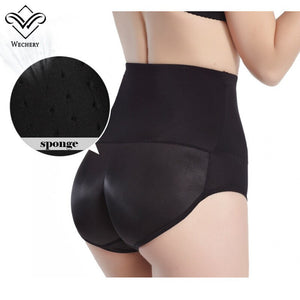 Women 4Pcs Pads Enhancers Butt Lifter Shapers Control Panties Removable Inserts Sponge Padded Slimming Underwear