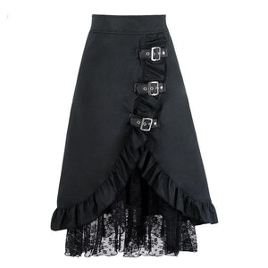 Women Skirts Long Maxi Steampunk Elastic Skirts Pencil Vintage Skirt Black Midi Gothic Corset ALine Lace Skirt
