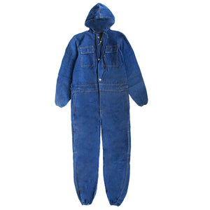 Winter Mens Denim Working Overalls Male Work Wear Uniforms Clothes Fashion Hooded Jumpsuits Worker Repairman 101303