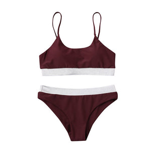 Women Solid Bikini Set Swimming Two Piece Wire With Pad Swimsuits Swimwear Beach Suit #1224 A#487
