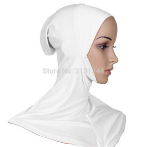 Women Under Scarf Hat Cap Bone Bonnet Hijab Islamic Band Neck Cover Head Wear Fashion