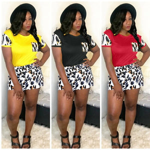 Tracksuit Set Jogger Plus Size Outfits Summer Matching Sets Casual Two Piece Crop Top Biker Shorts Set 2020