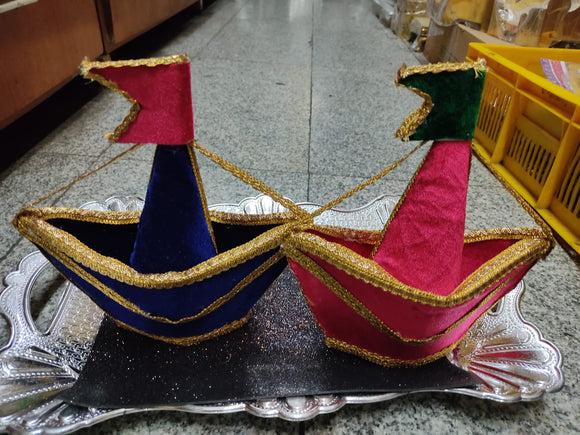 COCONUT DECORATED- BOAT