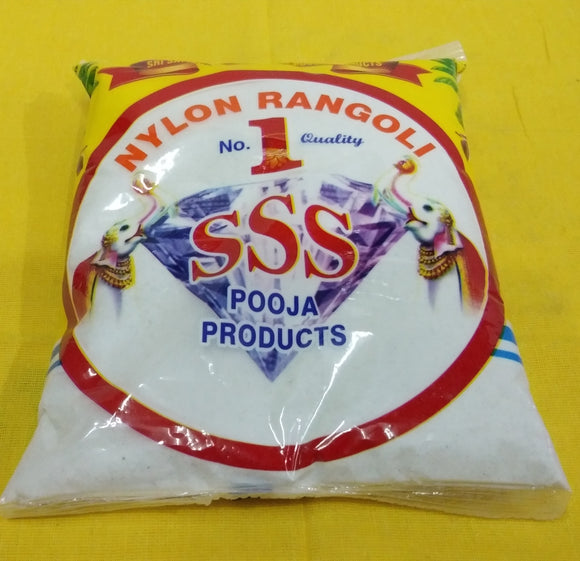 RANGOLI POWDER WHITE 1KG