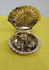 Brass box for haldikumkum