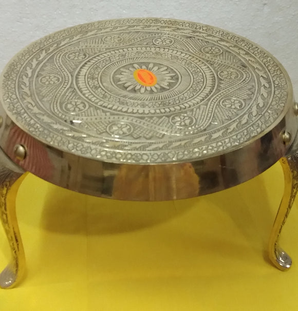 Brass tripod stand for puja