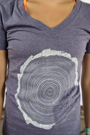 Cosmic Tree Ring V-Neck Women's Cut (2 Color Options)