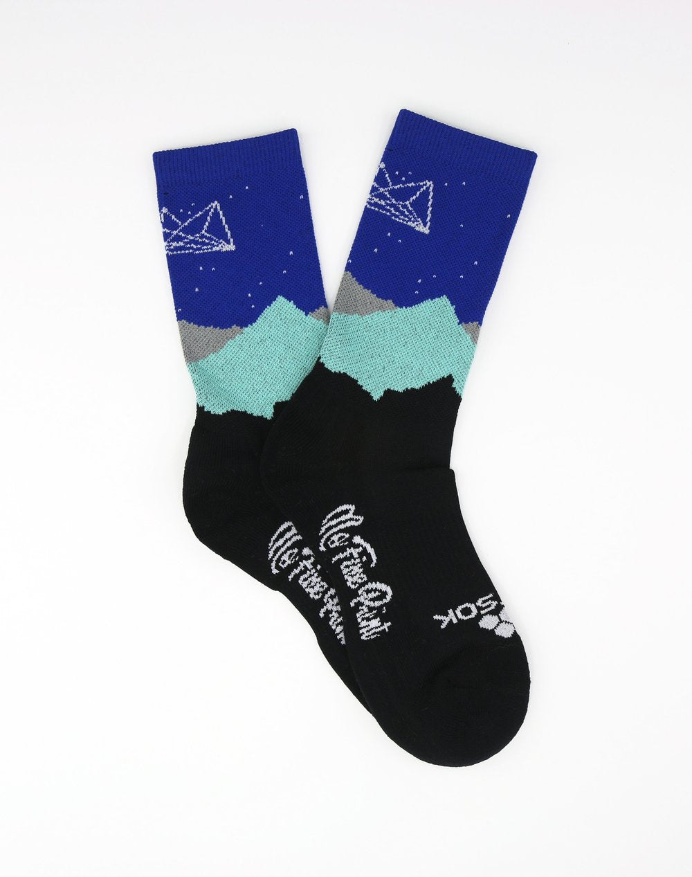 Midnight Mountains Sock