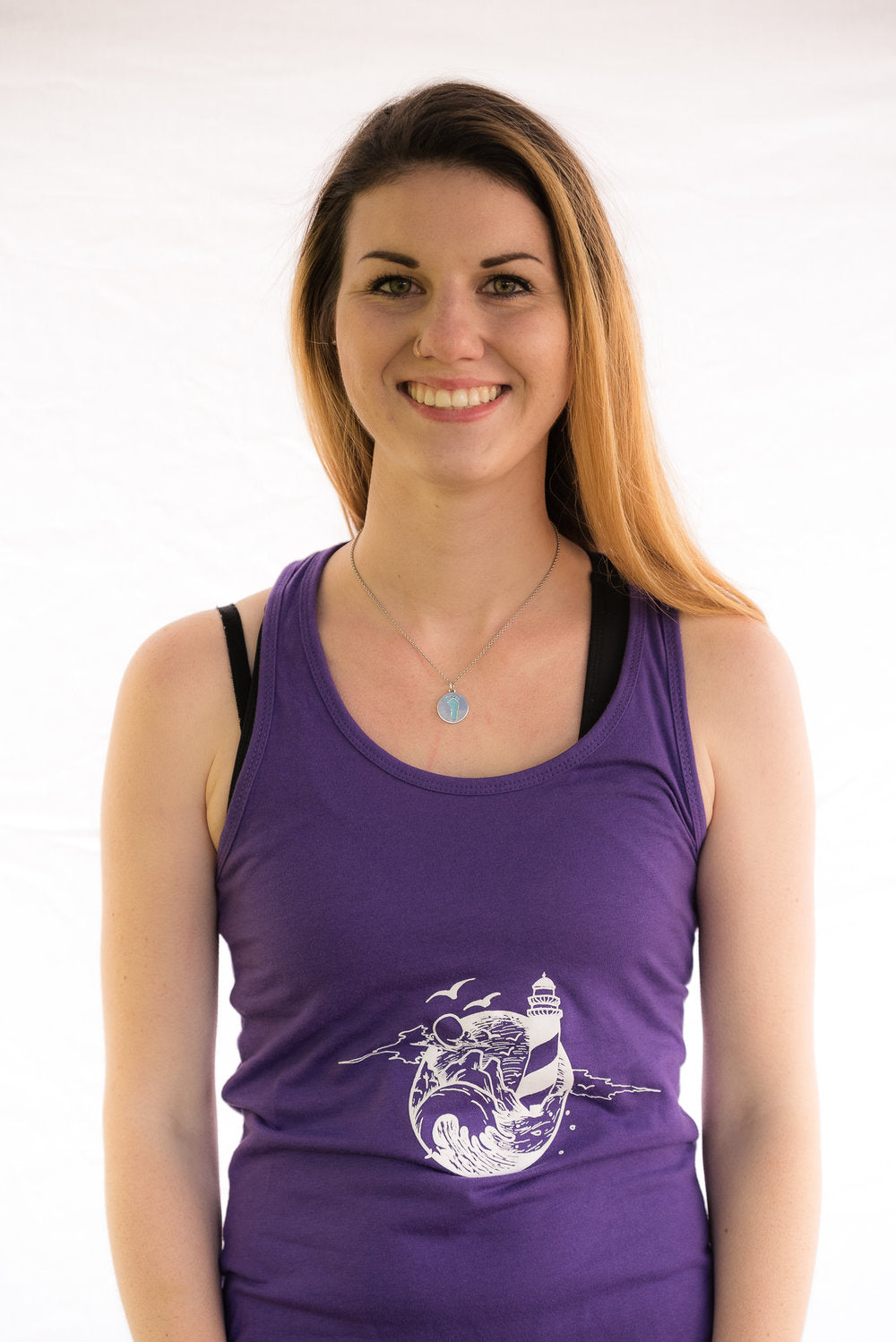 SeaScape Racer Back Ladies Tank