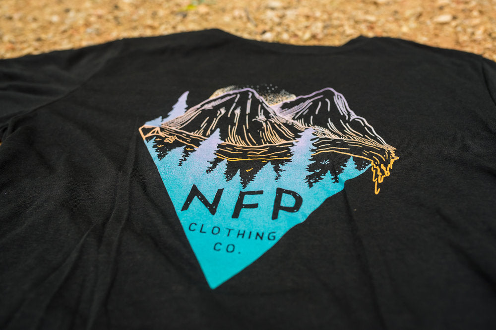 NFP Mountain Triangle Black Short Sleeve