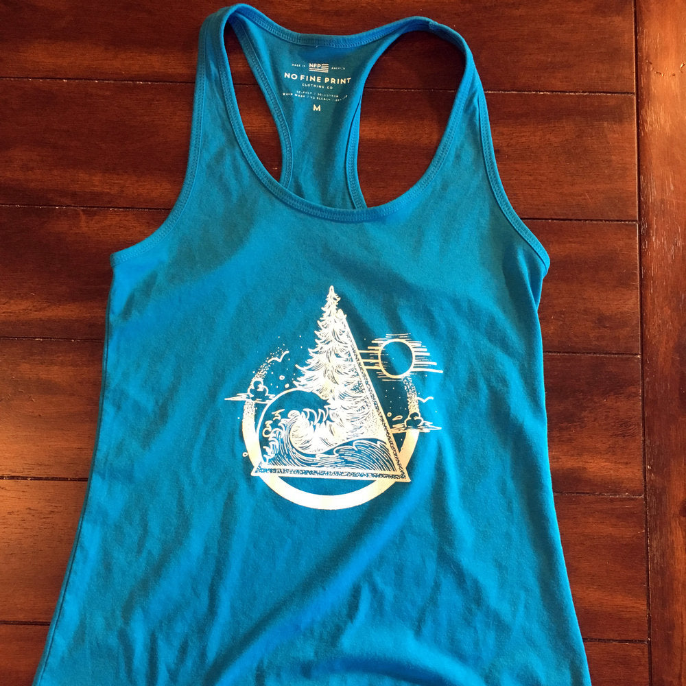 Sun and Shore Racer Back Ladies Tank