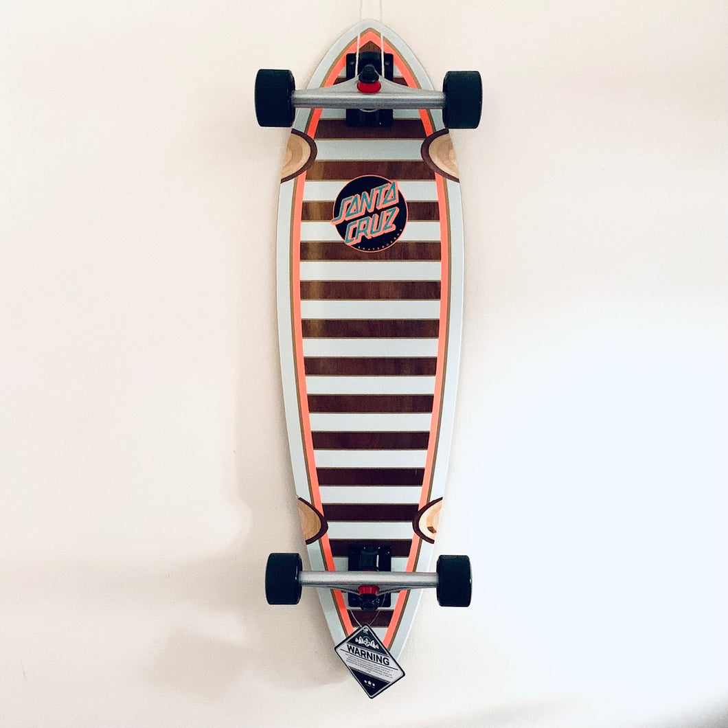 Santa Cruz Gold Stripe Longboard