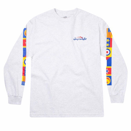 Lakai x Chocolate Flags Longsleeve Tee White