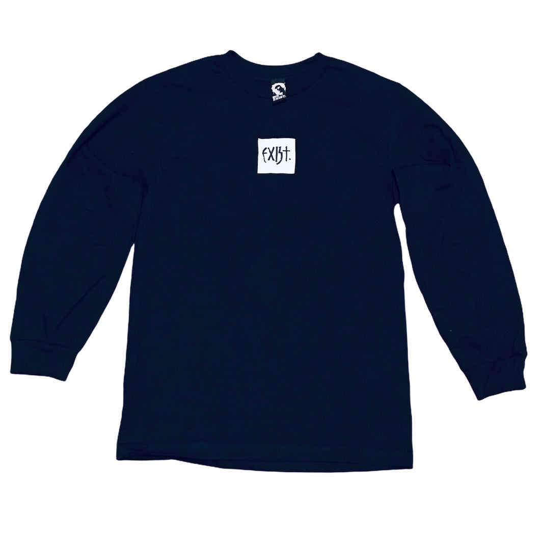 Exist Marker Box Long Sleeve Tee Black