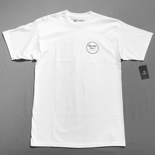 Brixton Wheeler Tee White/Black