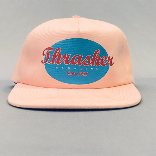 Thrasher Pink Oval Snap Back Cap