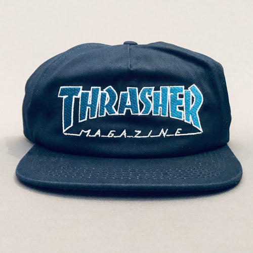 Thrasher Outlined Navy/blue Snap Back Cap