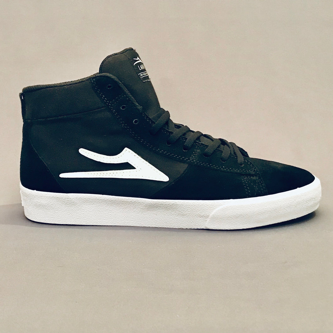 Lakai Newport Hi Black White