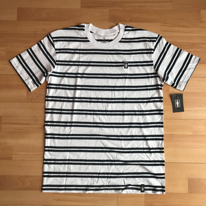 Girl Striped OG Emroidered Tee White Navy
