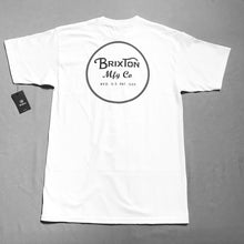 Load image into Gallery viewer, Brixton Wheeler Tee White/Black