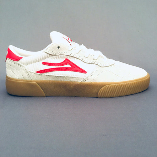 Lakai Cambridge White/Red Suede
