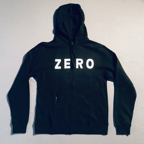 Zero Army Zip Hood Black
