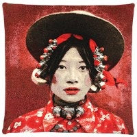 Tibetan Girl Cushion Cover