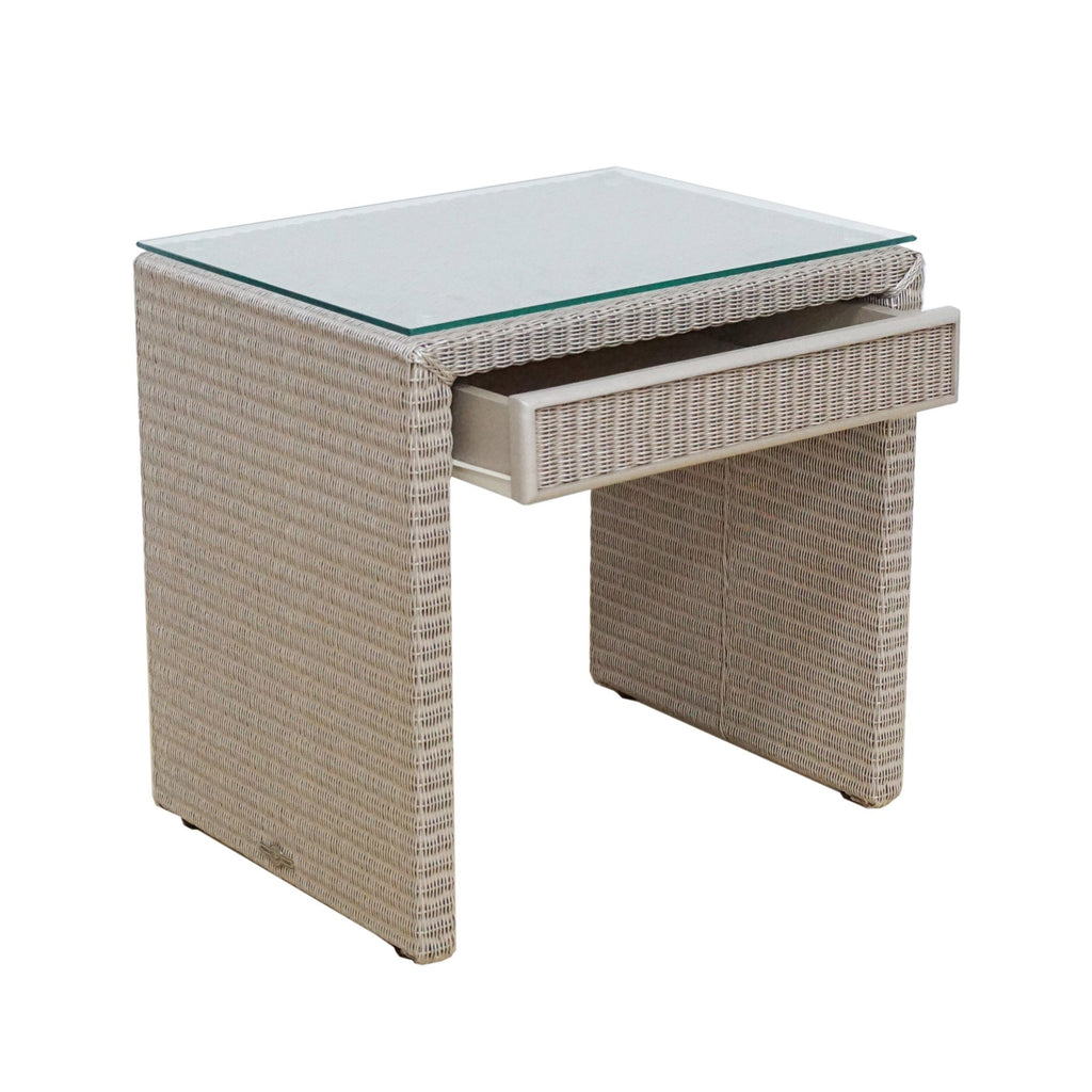 PONG NIGHT TABLE SPARKLE WITH GLASS TOP