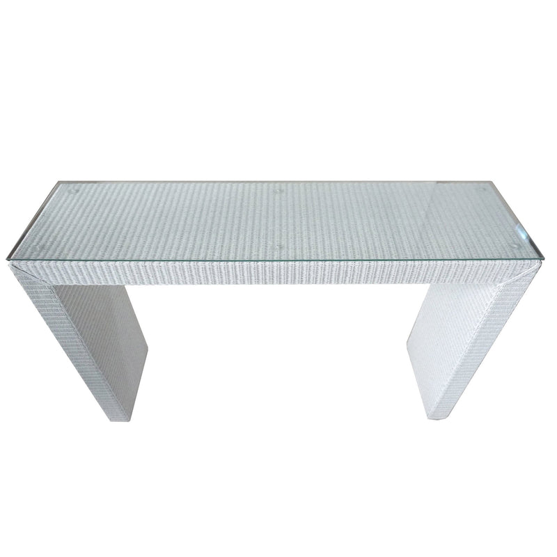 BROOKLYN CONSOLE WITH GLASS TOP