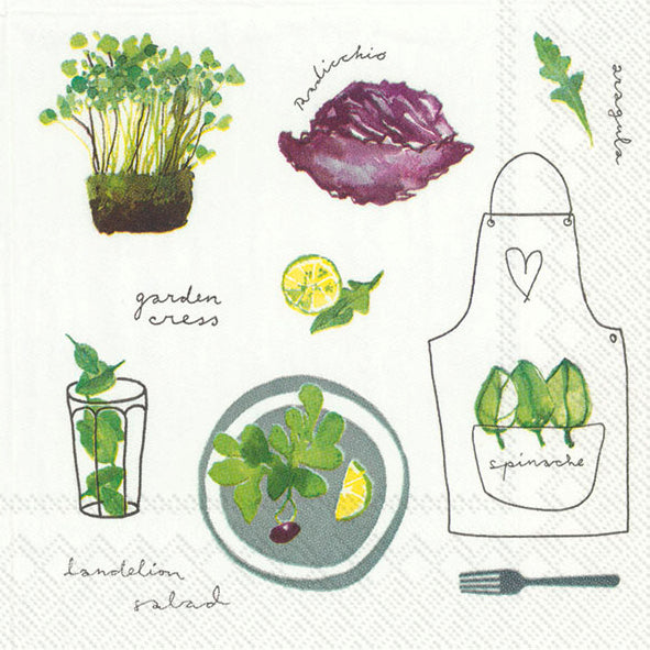 Cocktail Mix Napkin Soft Herbs