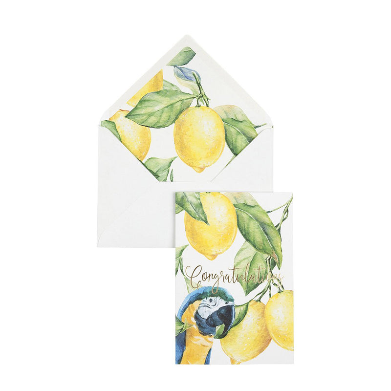 Greeting Card Yellow Lemon Tree - Congratulations